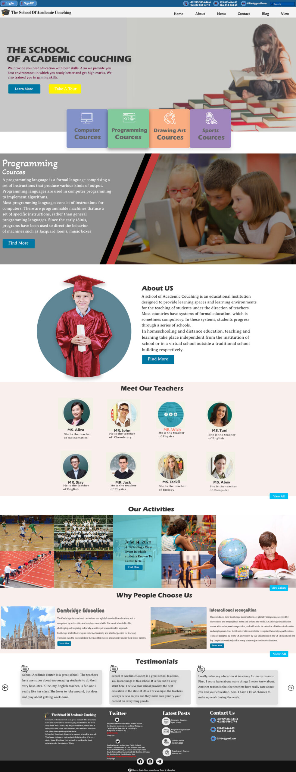 Free Website Template for School & Education