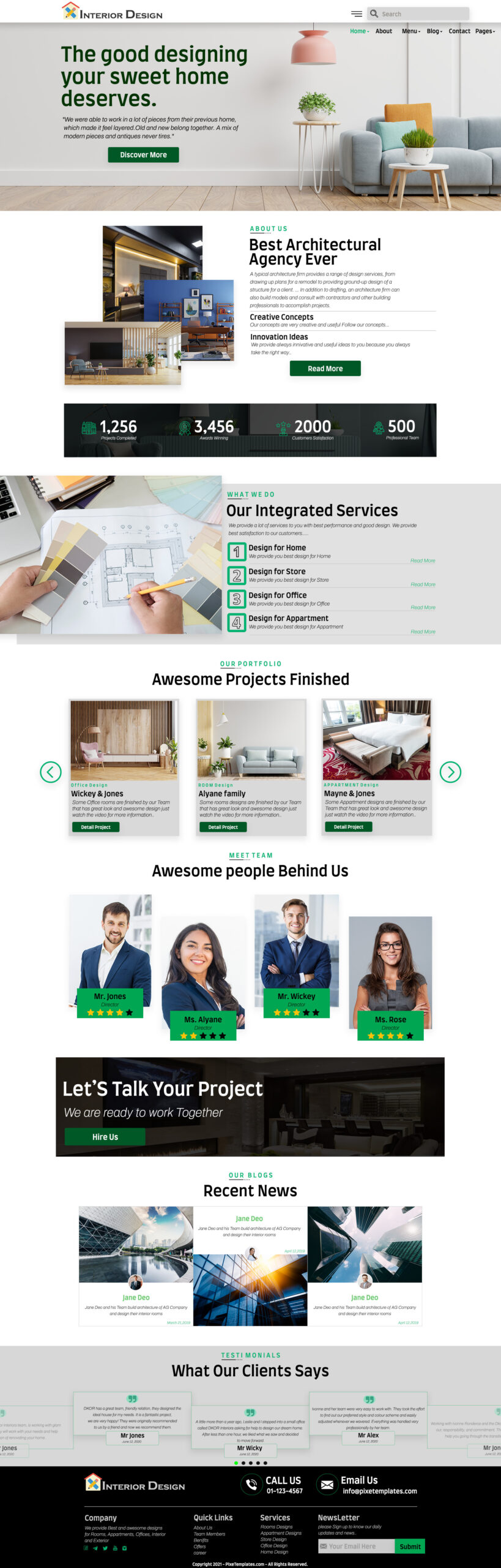 Photography Free Website Template with Source PSD