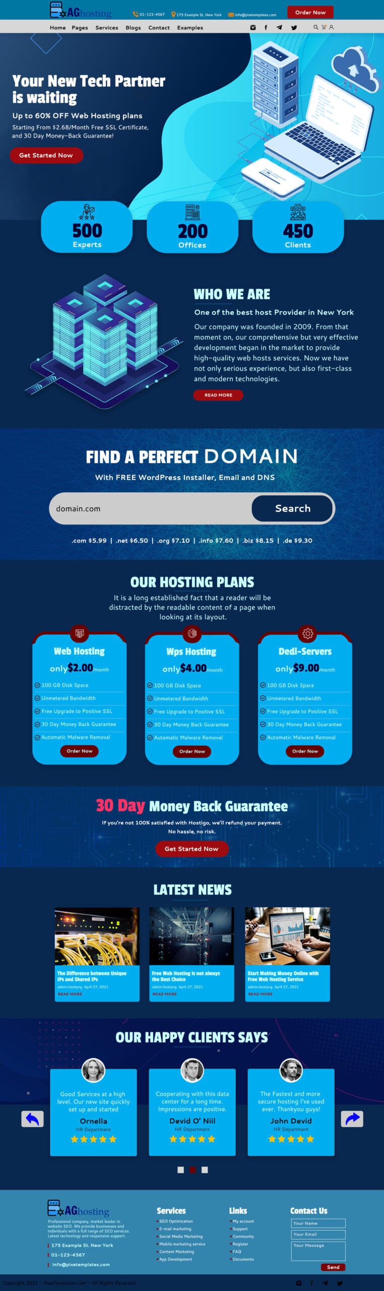Hosting Web Template For Free