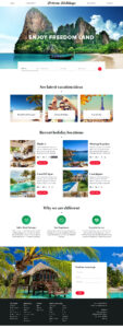 Free Website Template for Travel and Hotel