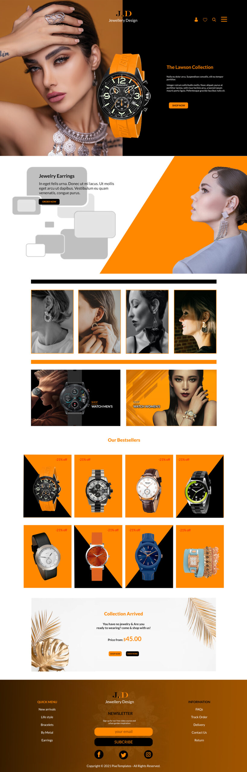 Free Web Interface for Jewelry Business