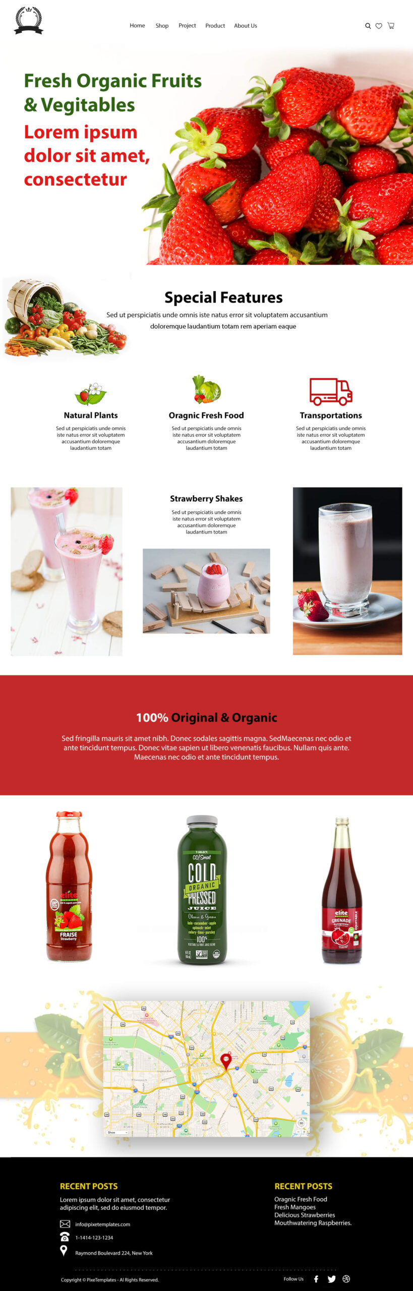 Fresh Fruits and Vegetables Website Template