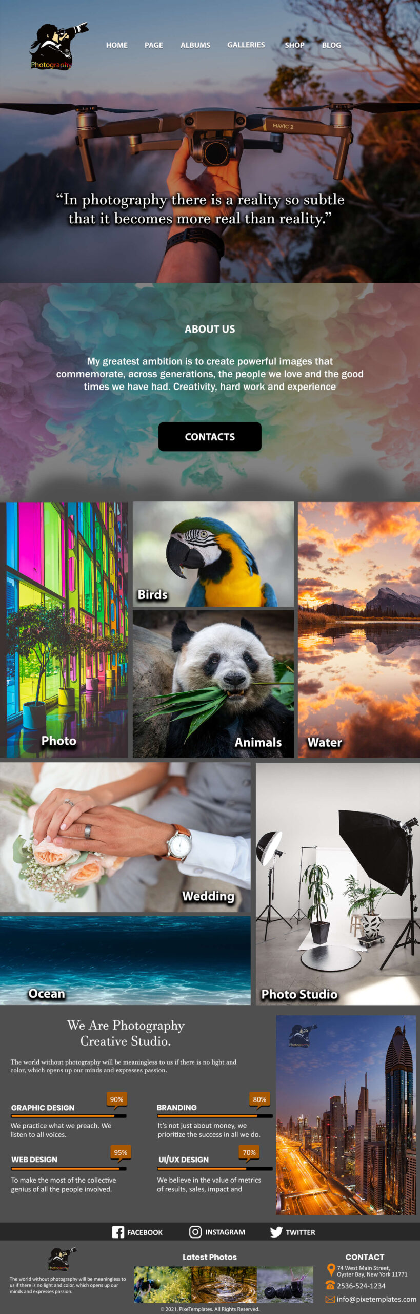 Photography Website Template Free Download