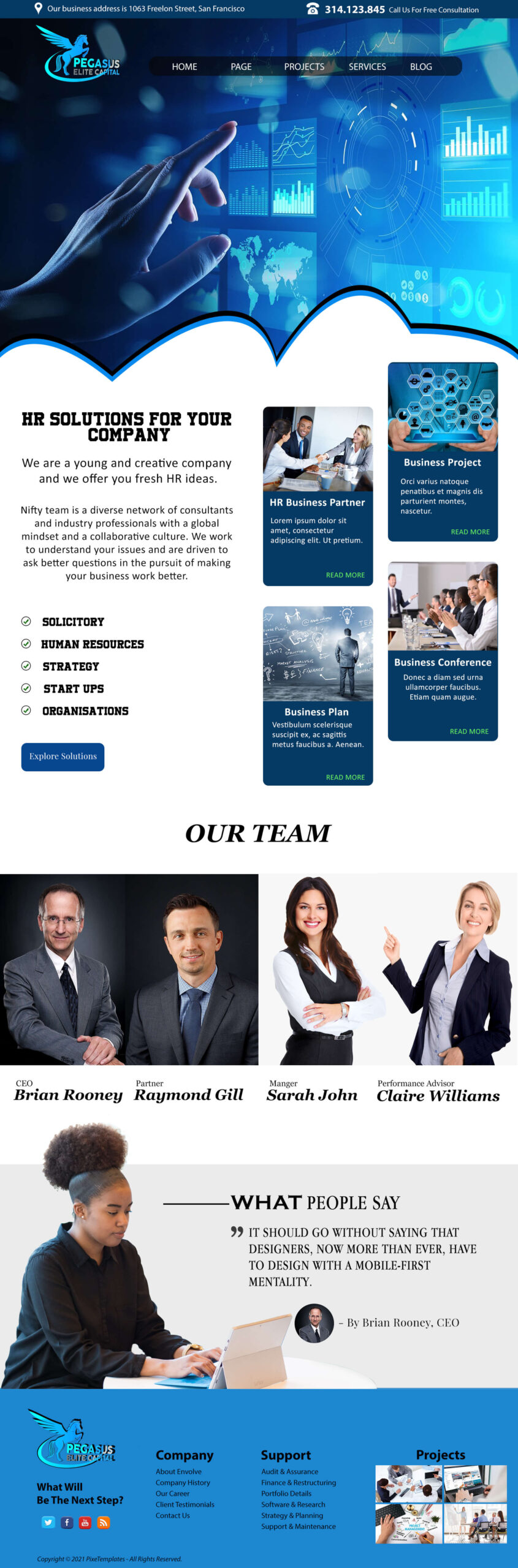 Free Website Template for Technology Company