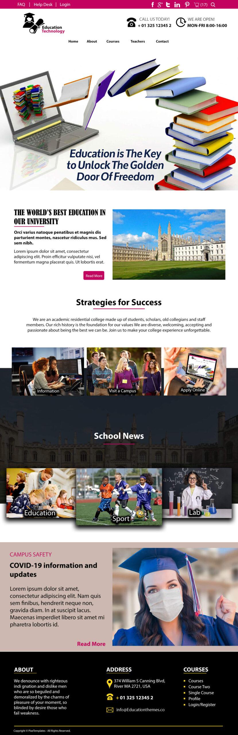 Education & Technology Website Template