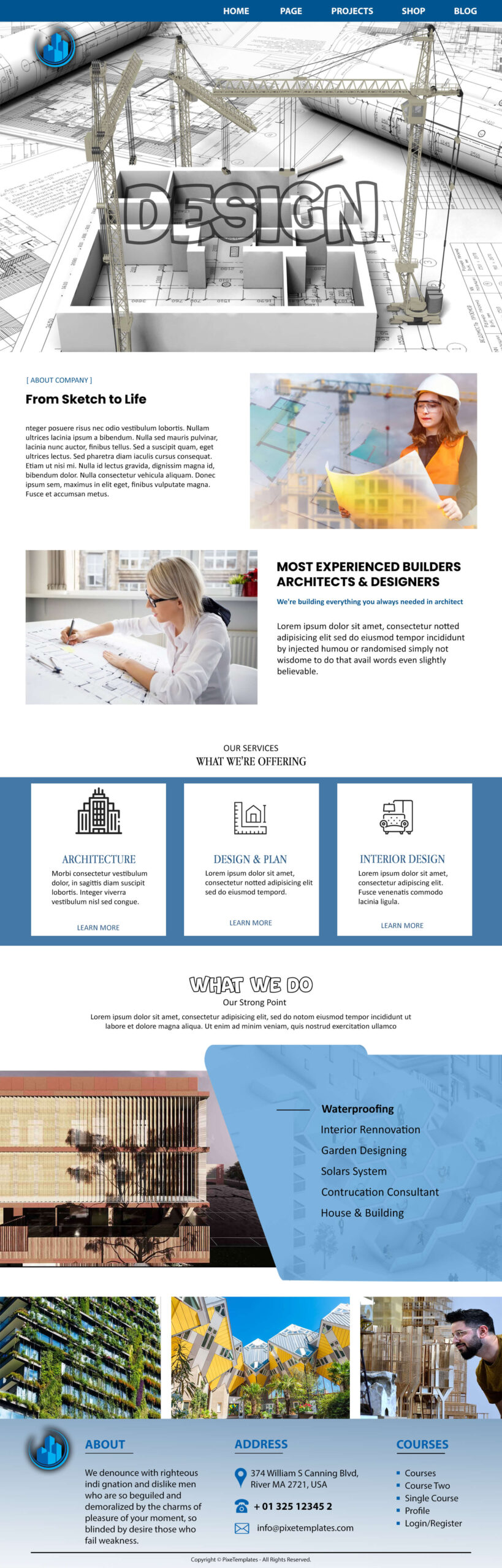 Free Website Template for Architecture & Design
