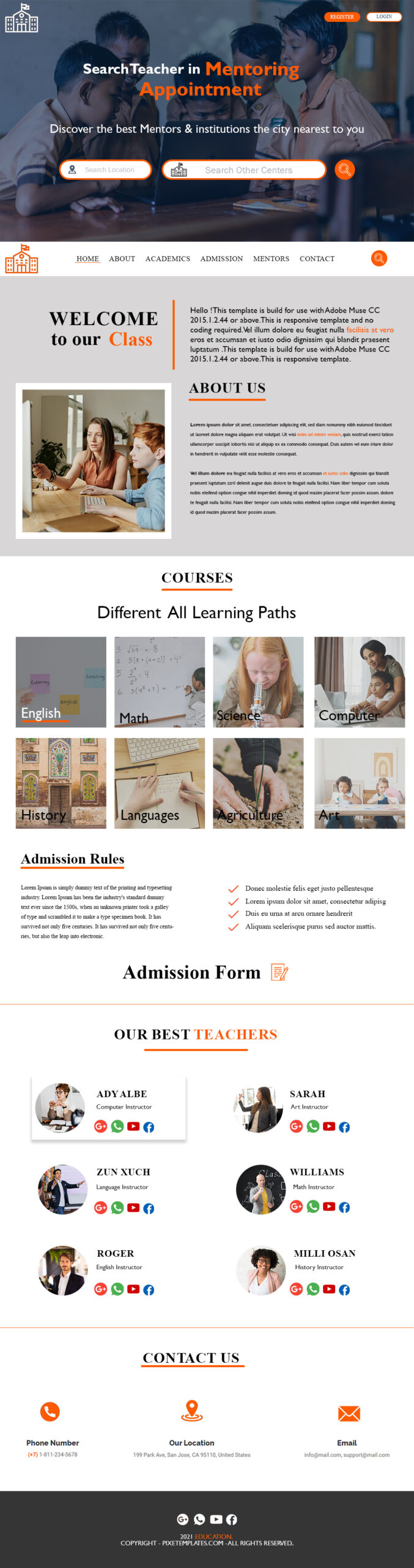 Beautiful Photoshop Interface for Education System