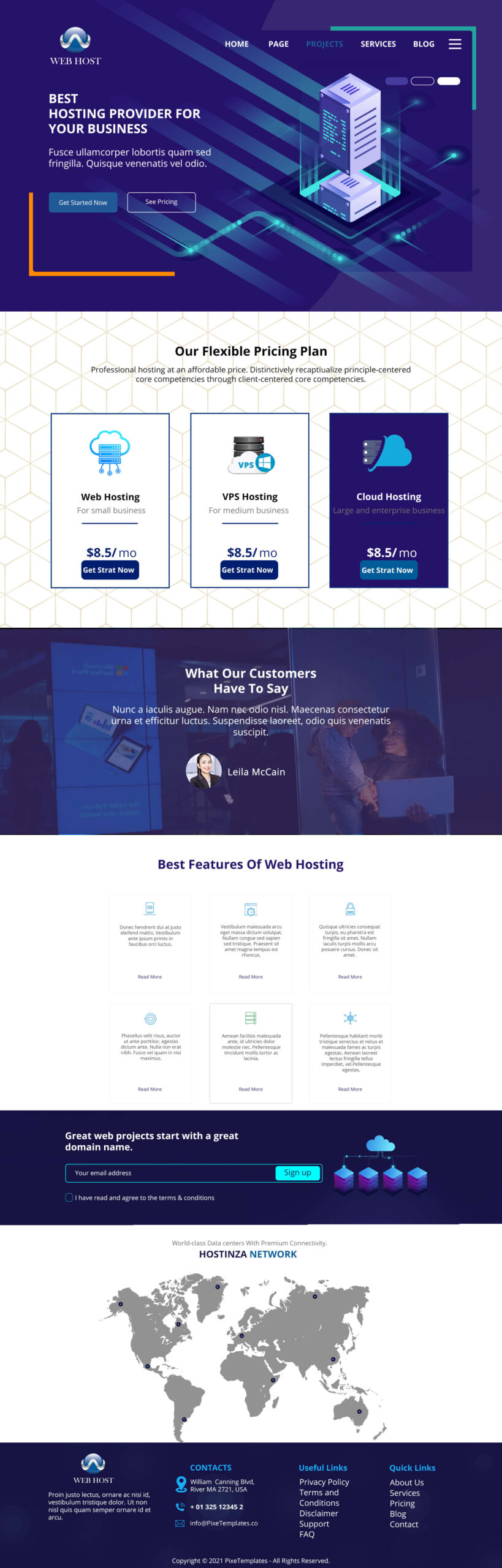 Website Template for Web Hosting, Absolutely Free