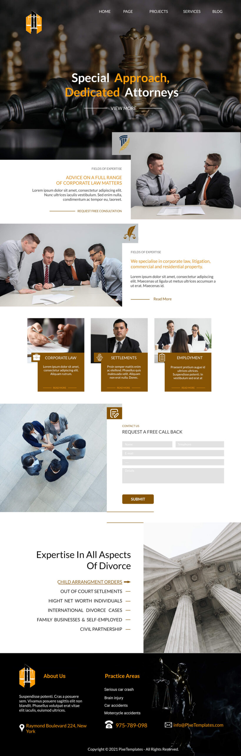 Interface for Law Firms with Source PSD Absolutely Free