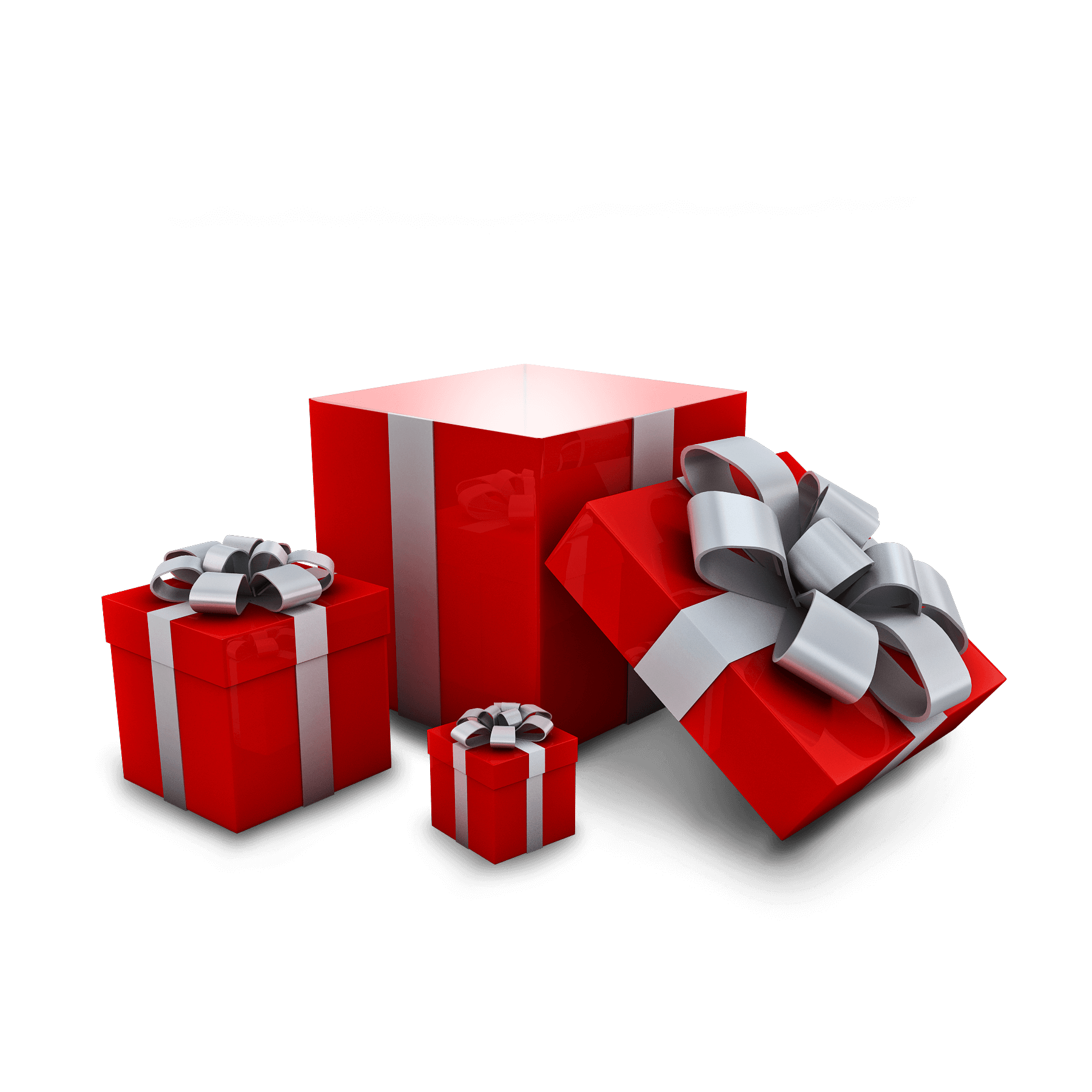 3D Gift Box in PNG Format