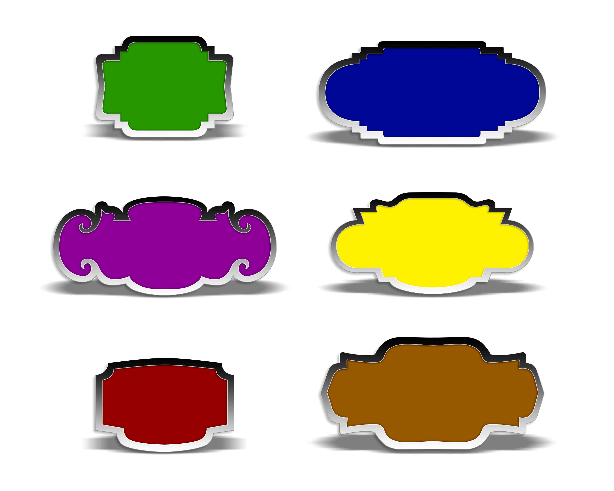 Popular Free Badges in PNG