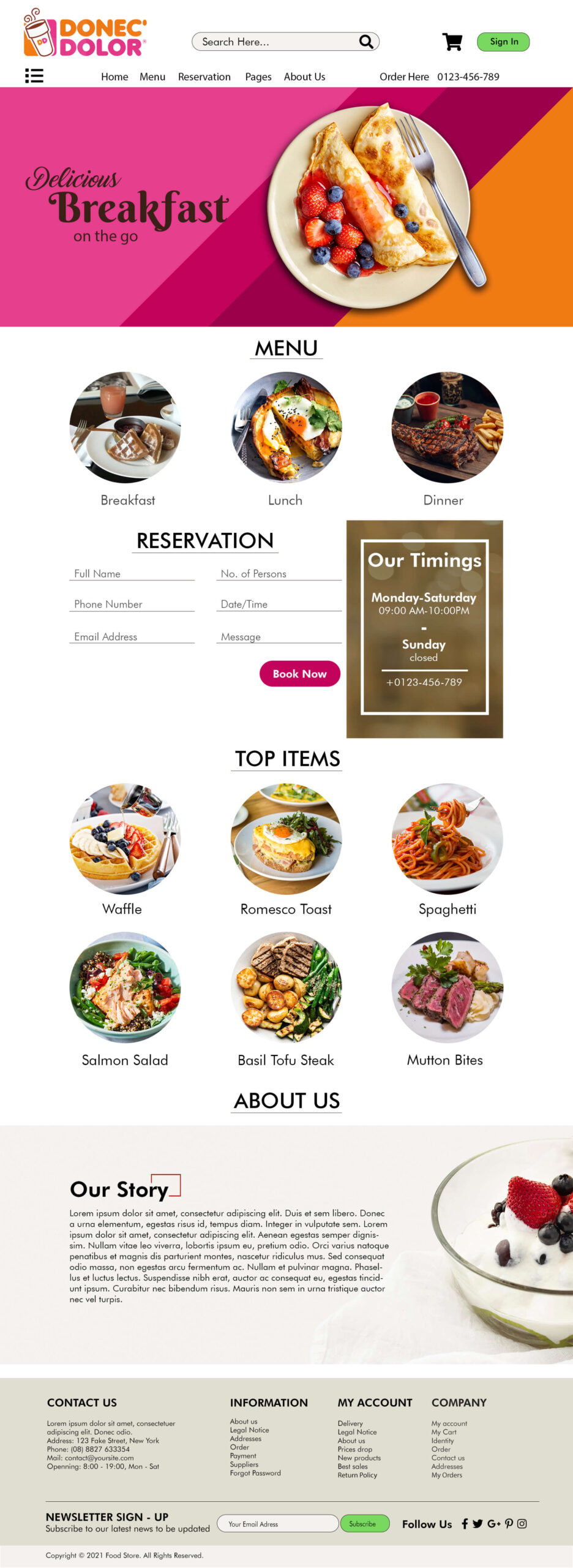 Free Website Template for Fruits Business