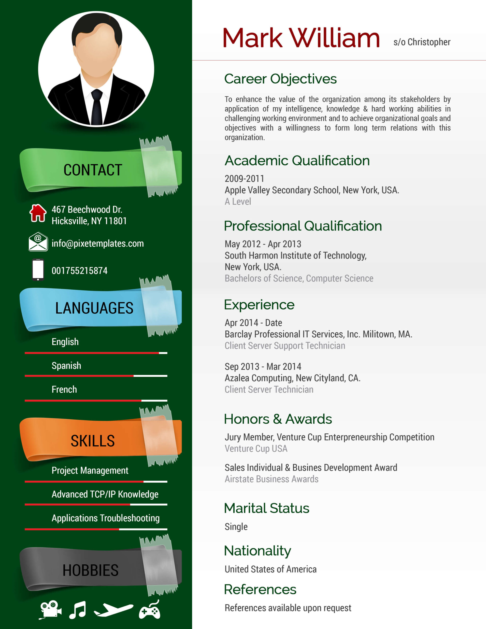 New Trendy Resume to Apply for any New Job