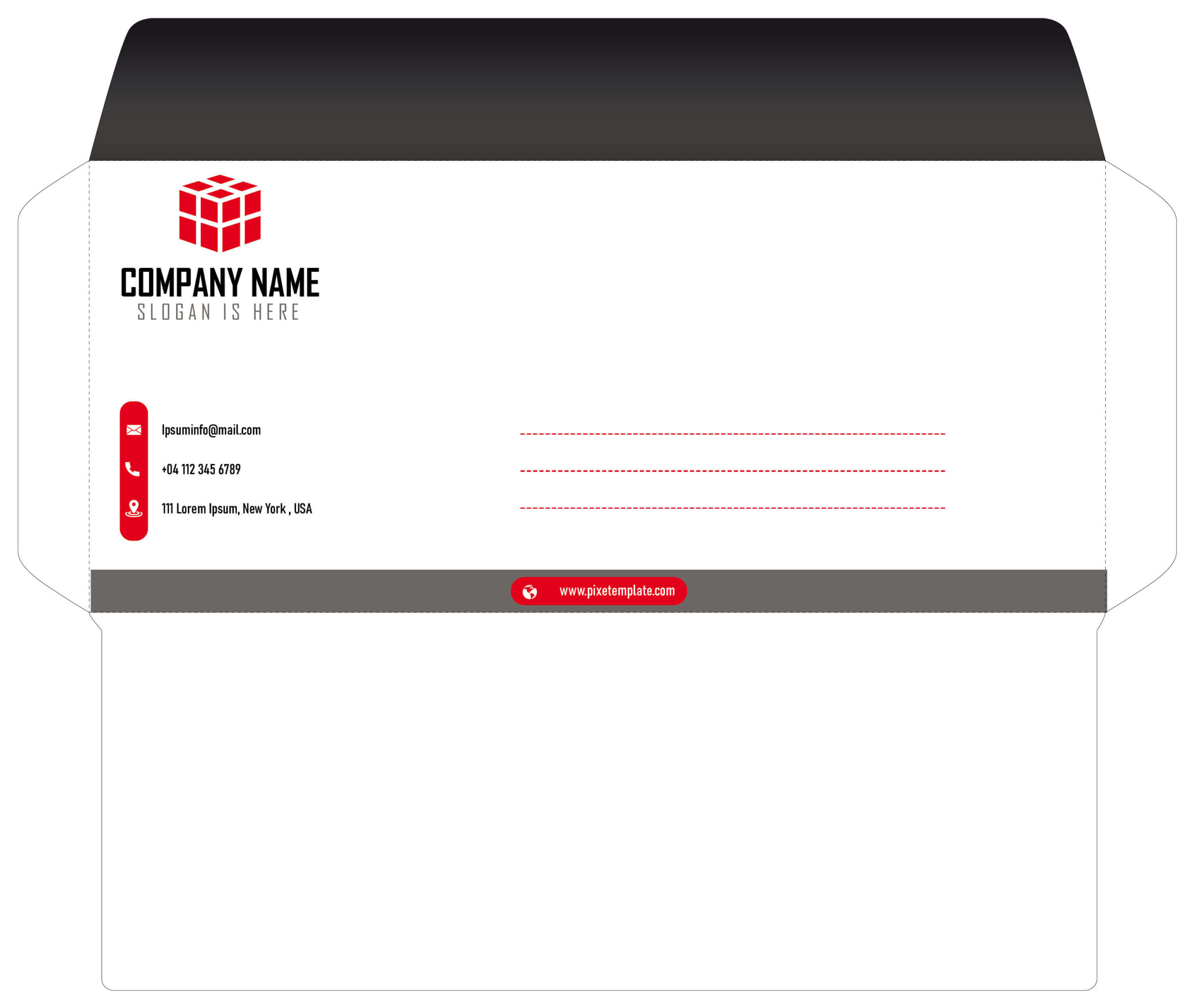Red and Black Envelope in Source AI File