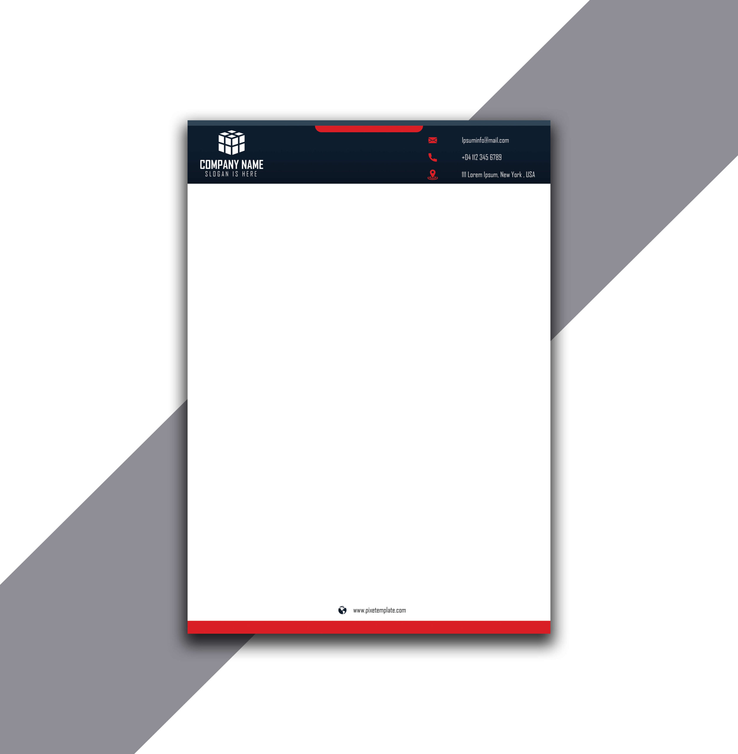 Simple But Attractive Letterhead with Source Adobe Illustrator File