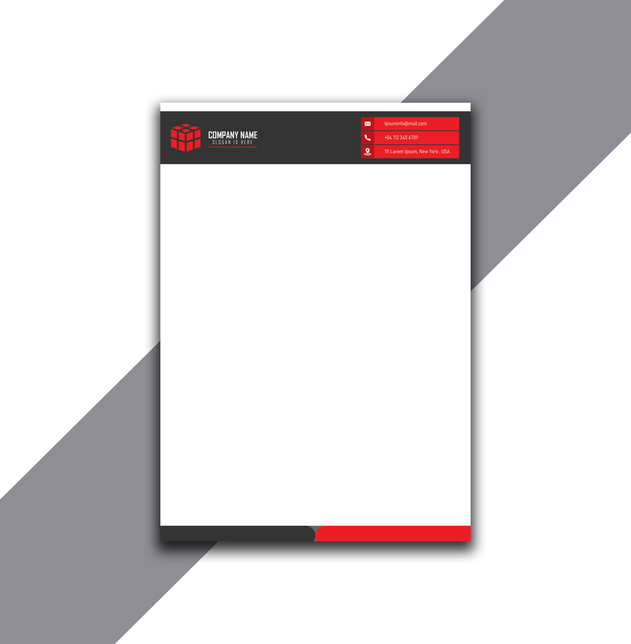 Red and Black Letterhead in Source AI File
