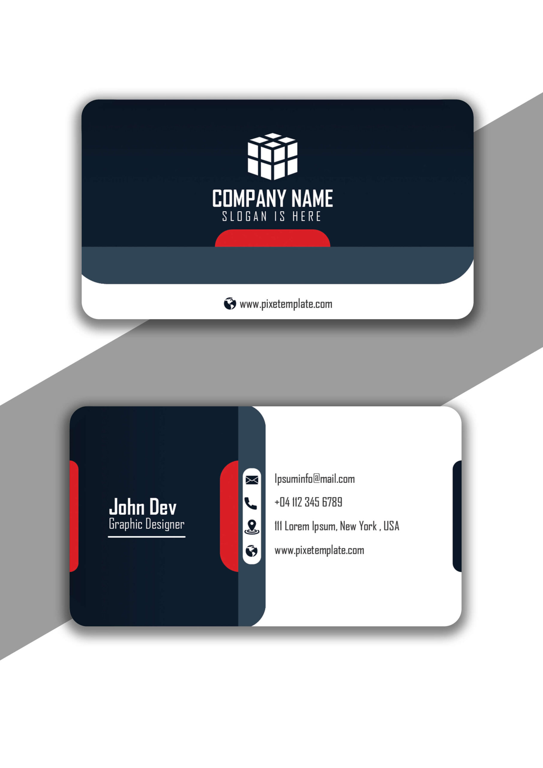 Simple But Attractive Business Card with Source Adobe Illustrator File