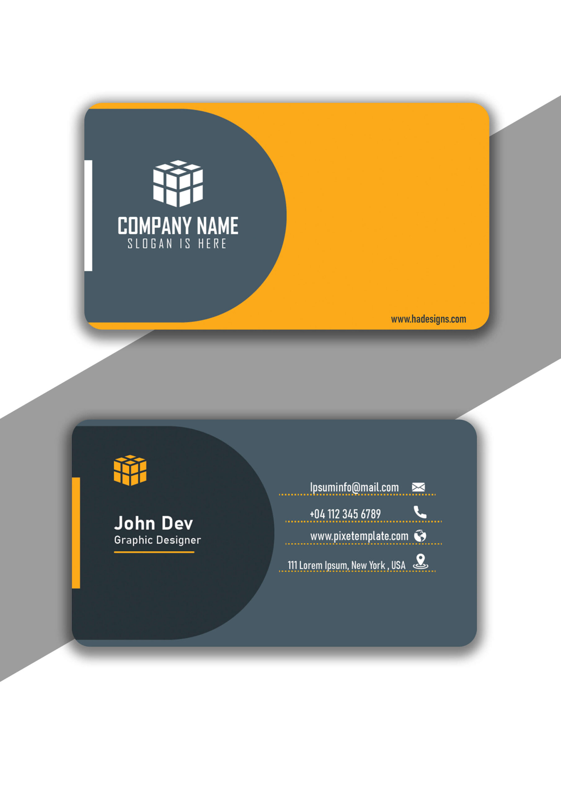Beautiful and Cool Curvy Style Blue Business Card