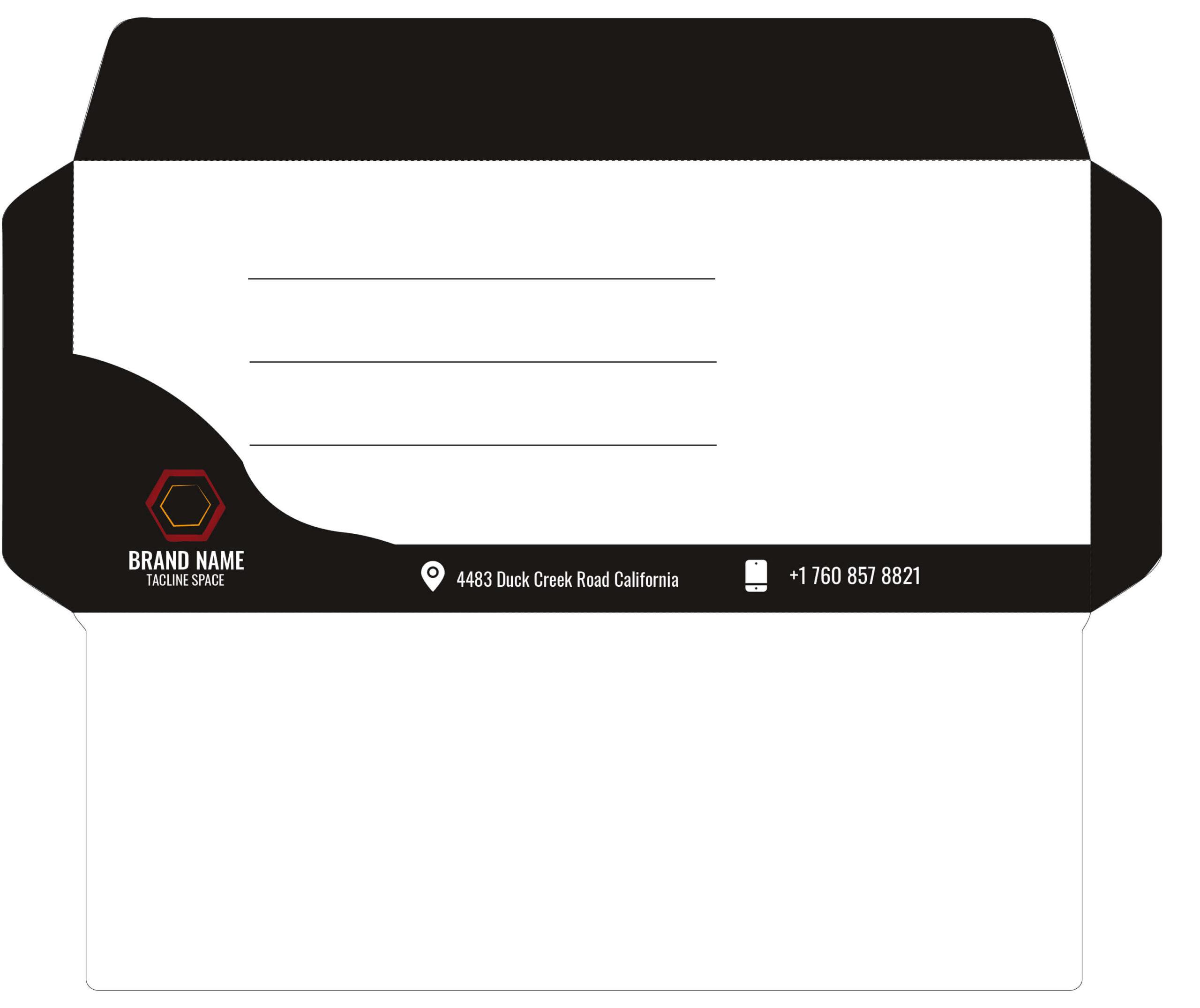 Simple Envelope Design in Adobe Illustrator with Source Files