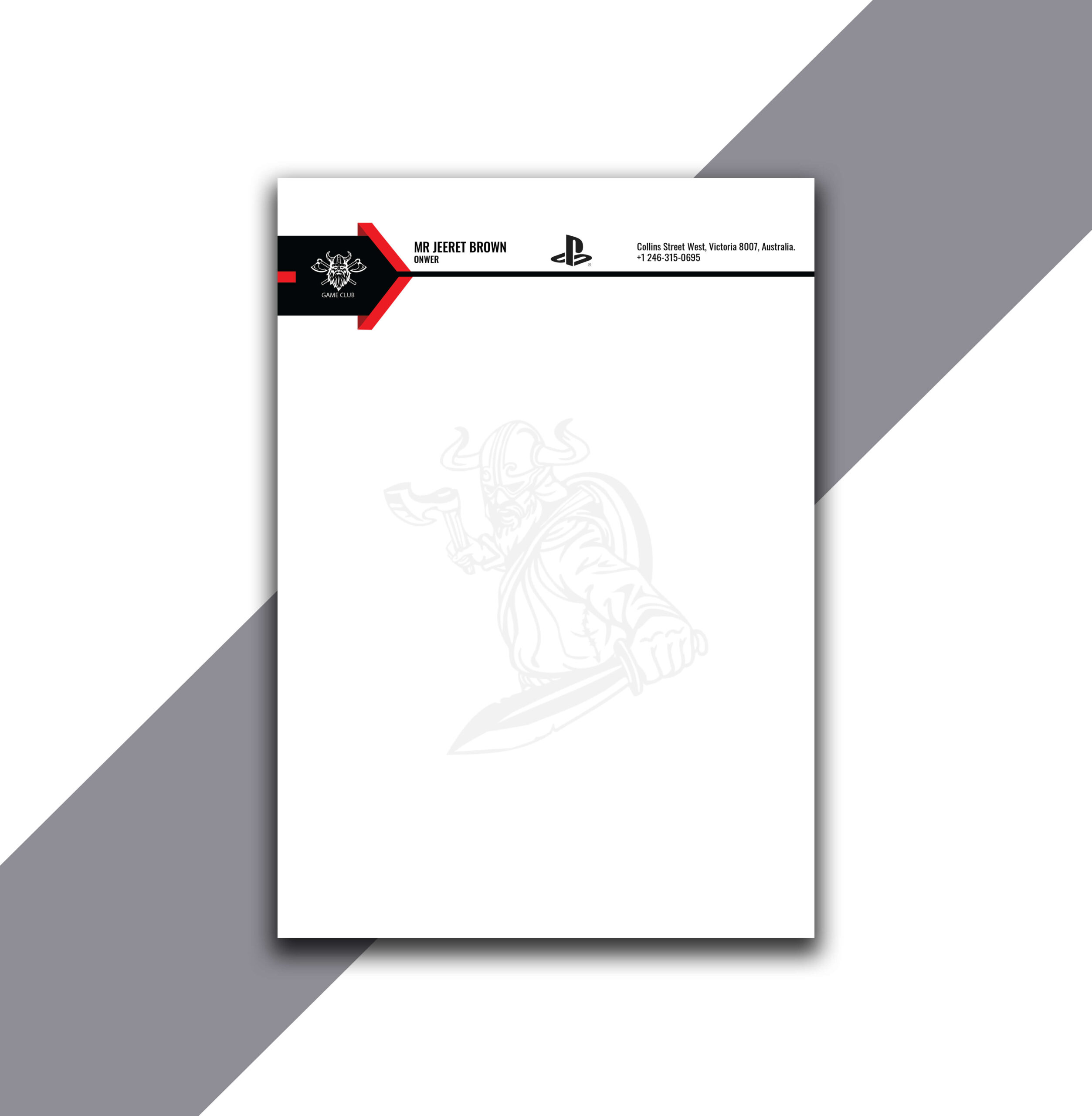 Unique Letterhead Design with Source AI File
