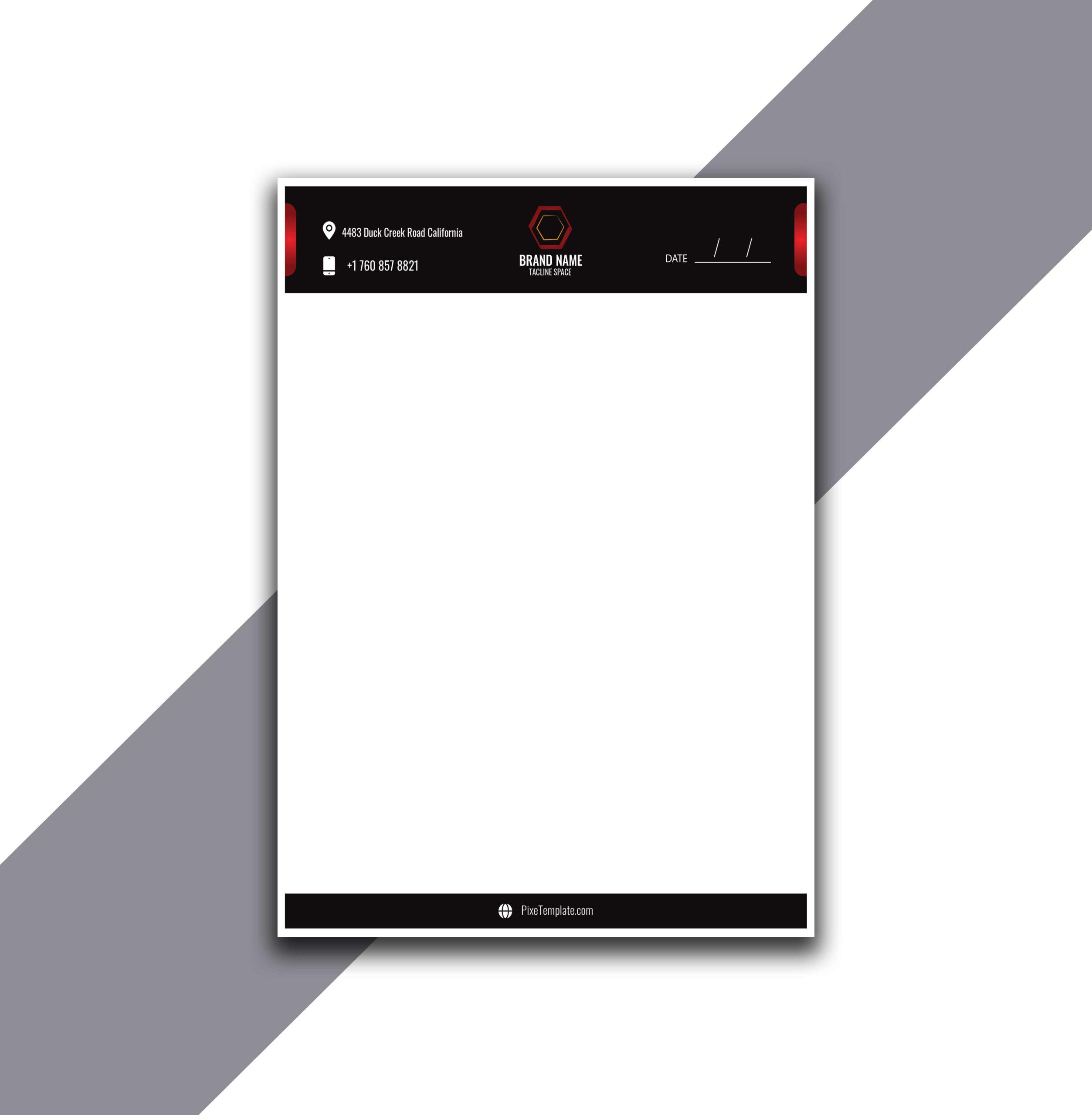 Simple Letterhead Design in Adobe Illustrator with Source Files