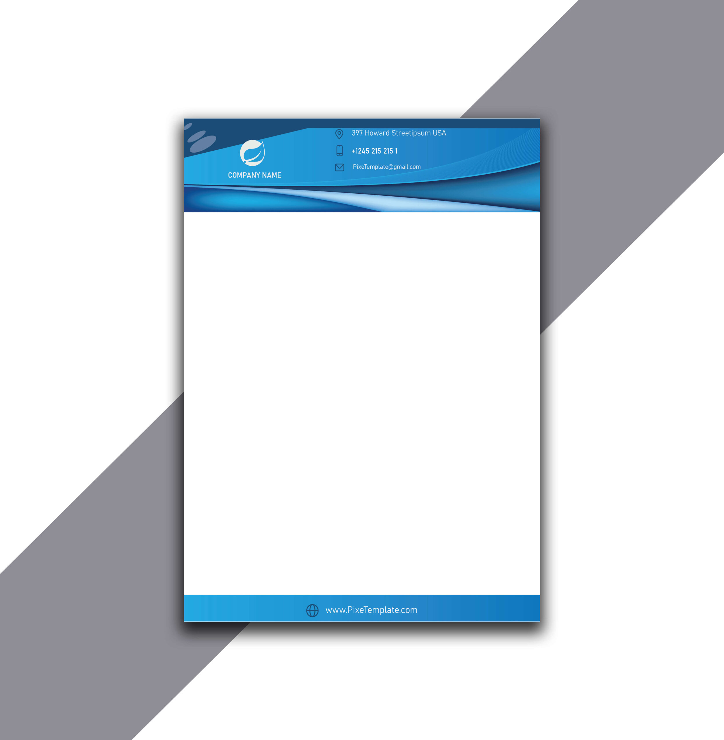 Single Color Letterhead with Source AI Absolutely Free