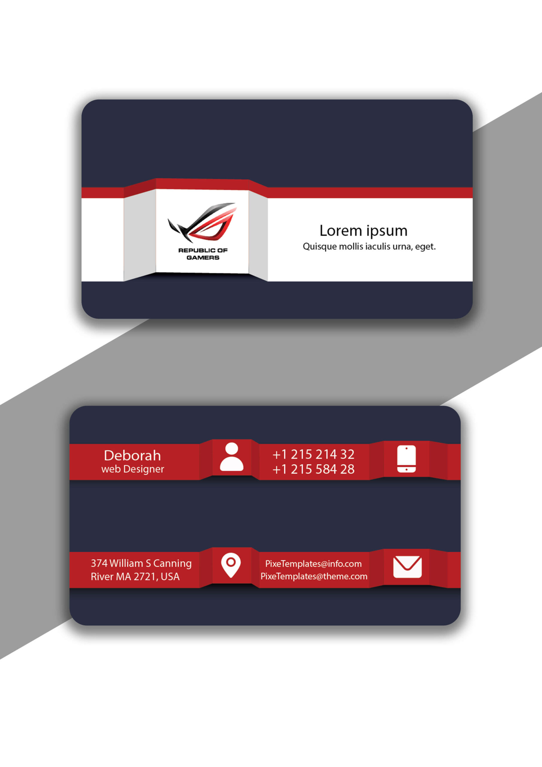 Business Card in Unique Style with Source Illustrator File