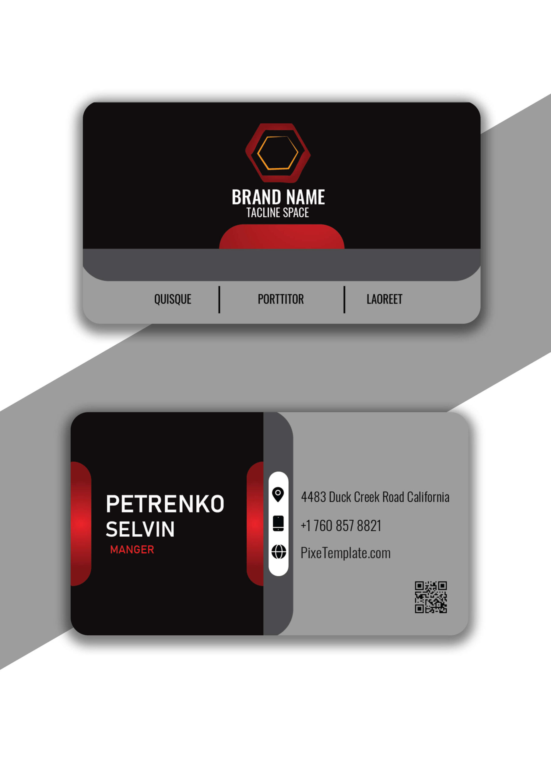 Simple Business Card Design in Adobe Illustrator with Source Files