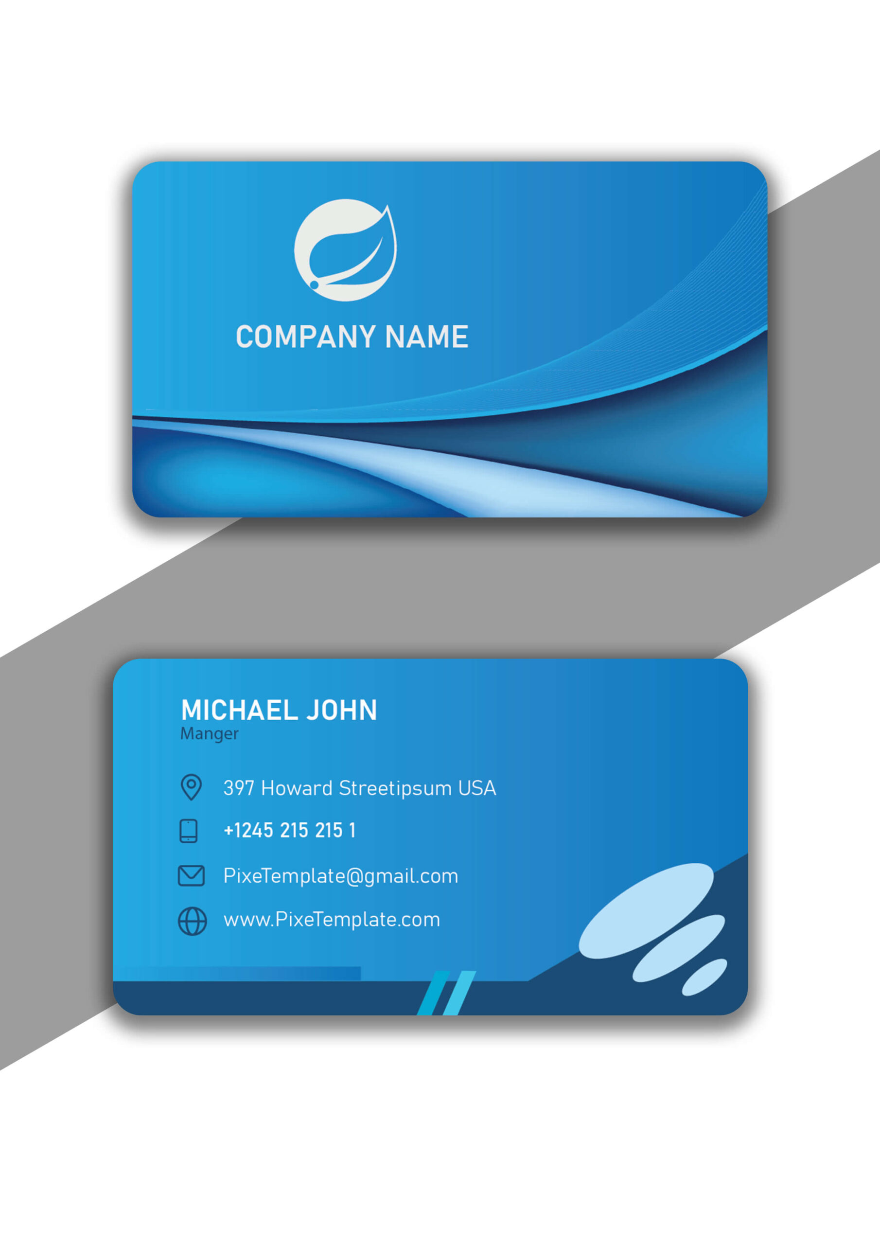 Single Color Business Card with Source AI Absolutely Free