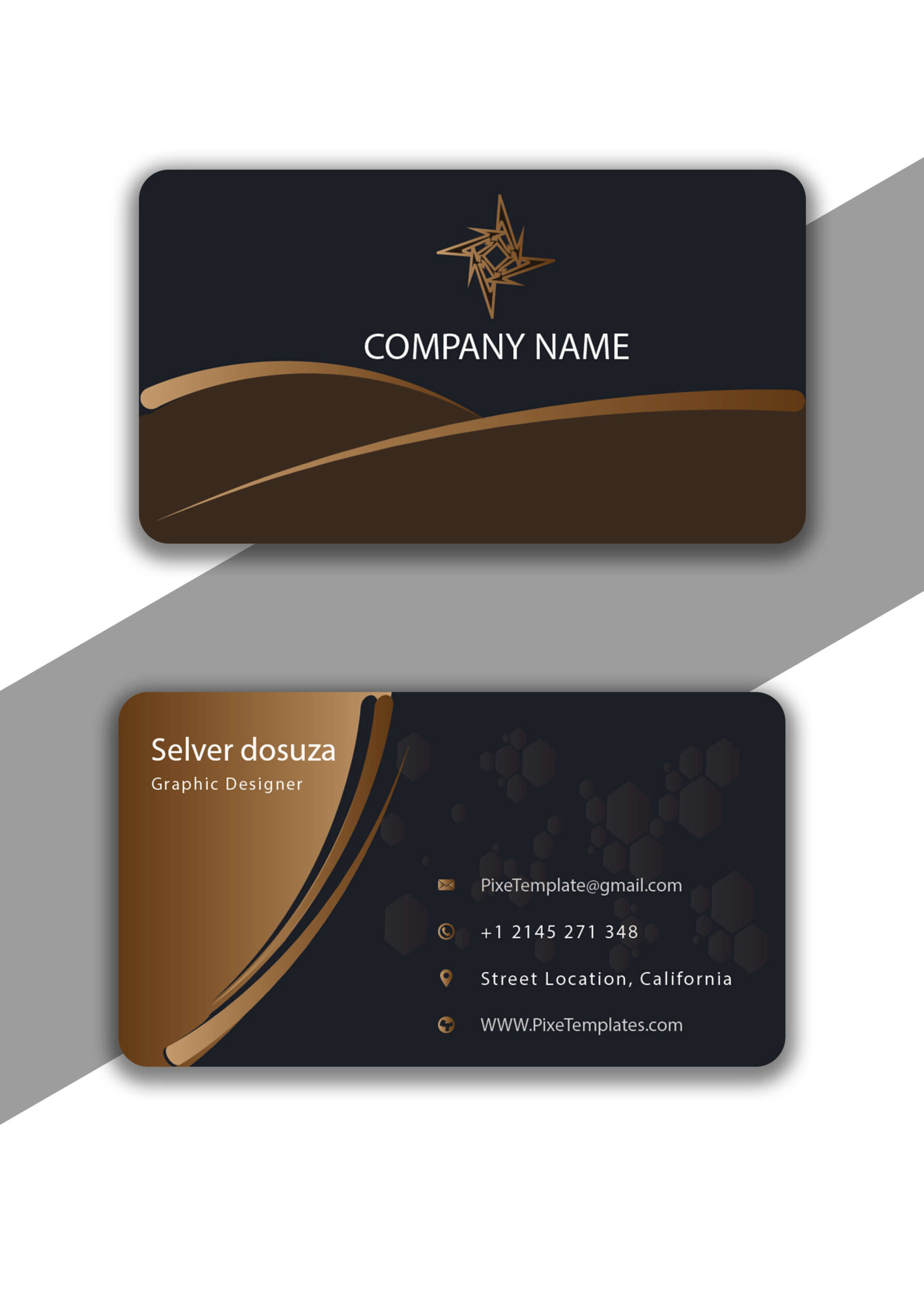 Professional Business Card Design with Source AI Free
