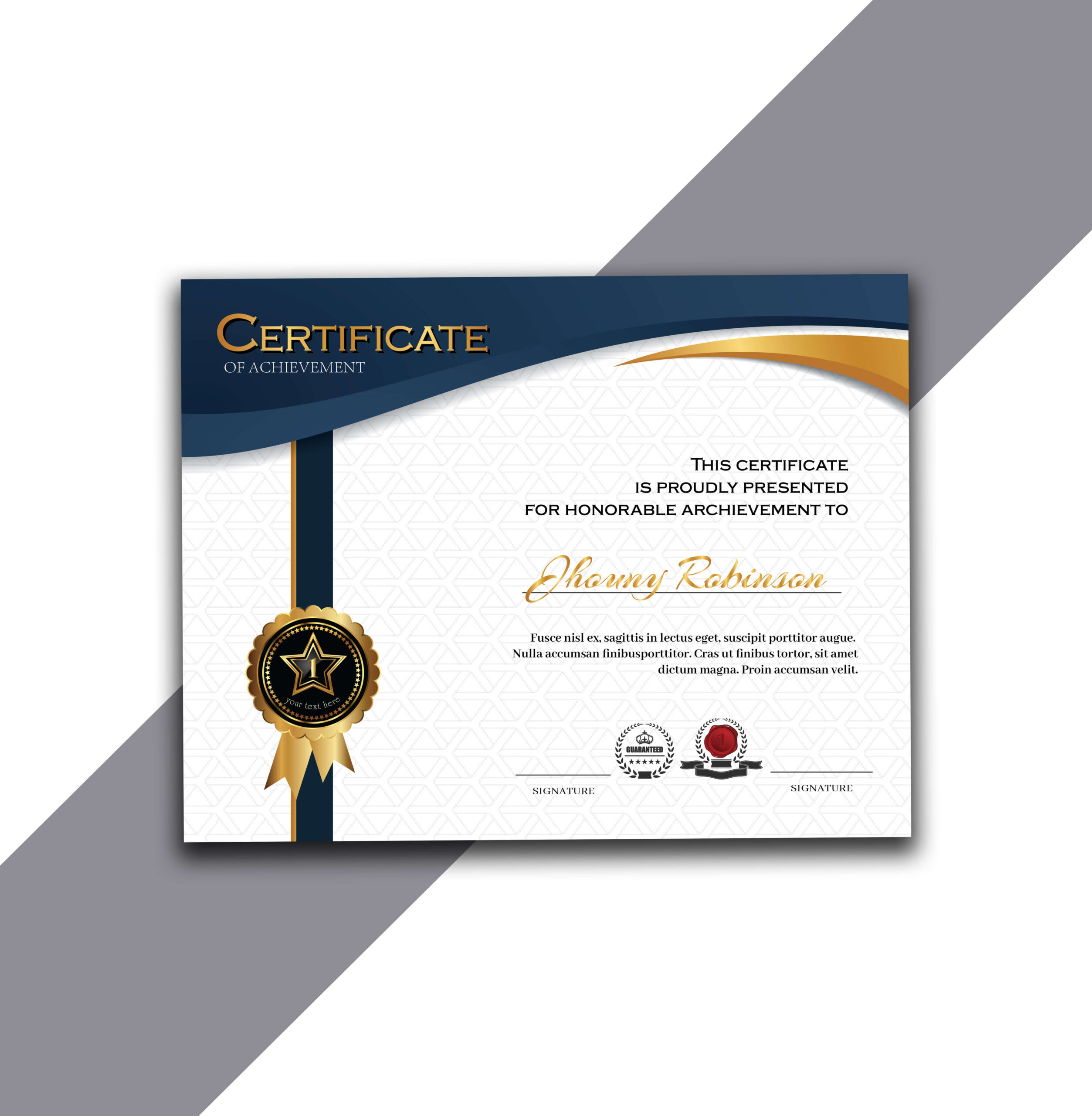 Free Certificate of Achievement with Source AI Absolutely Free