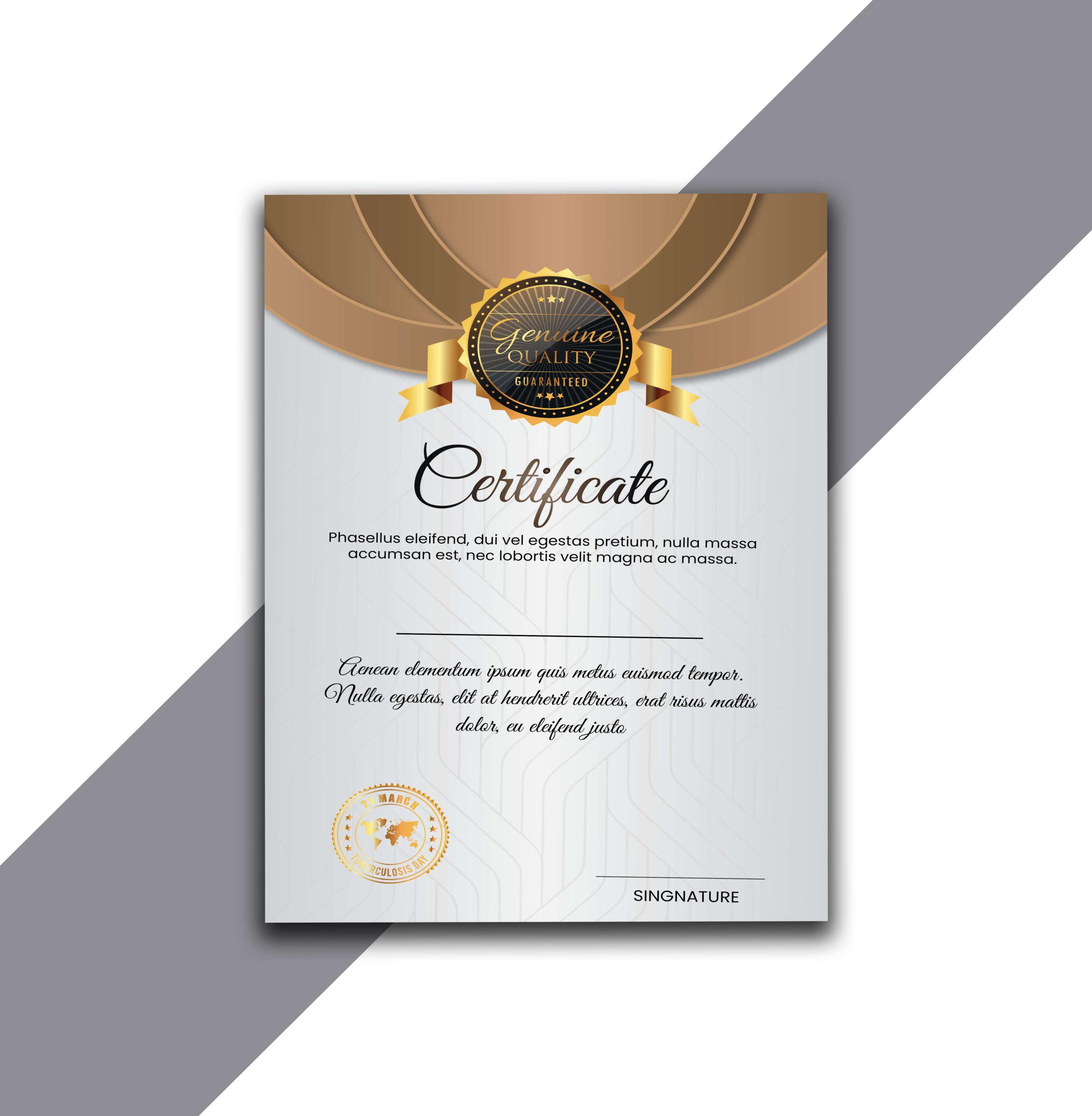 Get Free Certificate Design in Adobe Illustrator