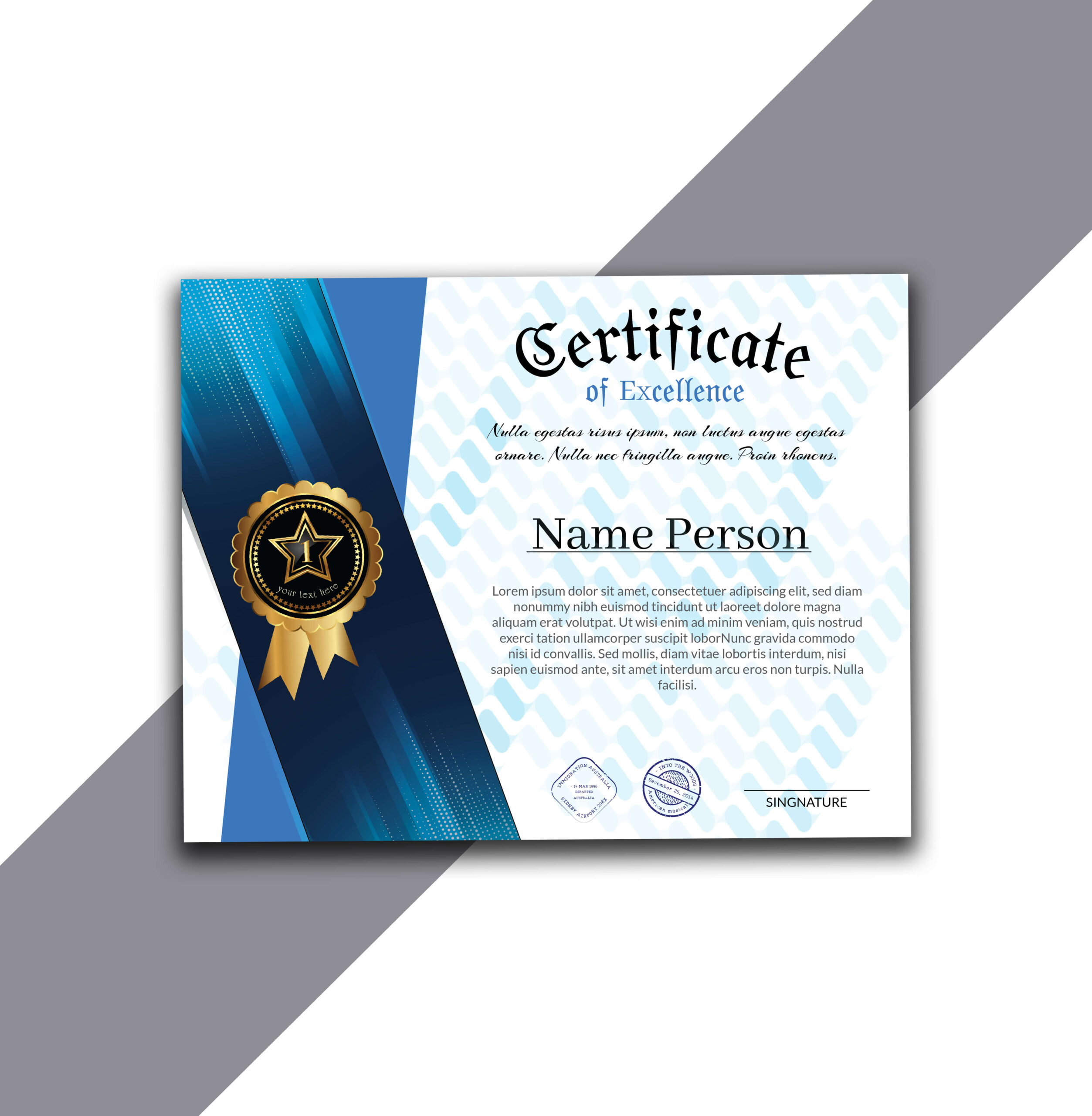 Get Free Certificate of Excellence Designed in AI