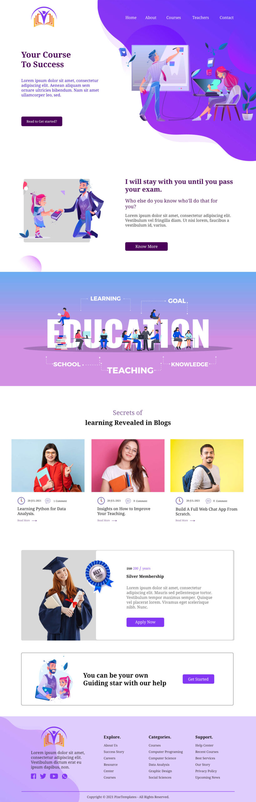 Modern and Trendy Website Template with Source PSD
