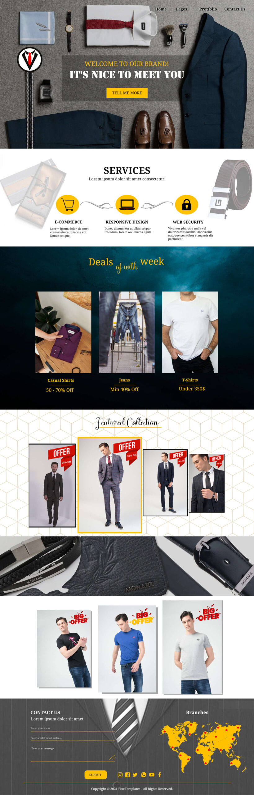 Simple but Attractive Website Template for Fashion & Beauty