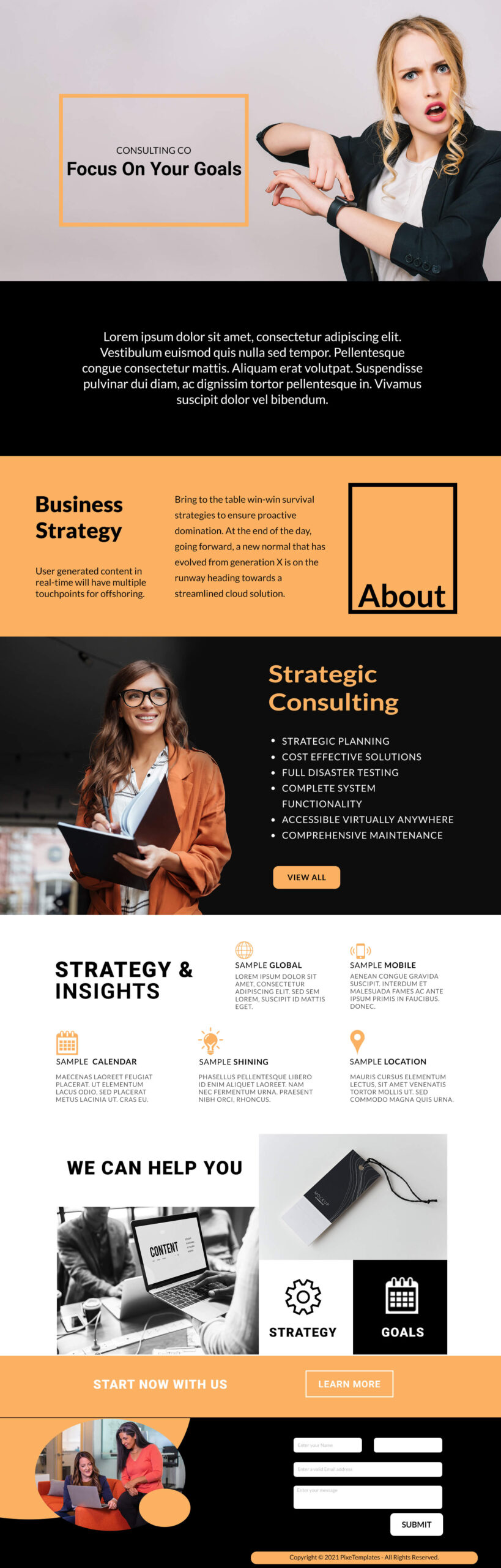 Legal Consulting Firm's Free Website Template with Source PSD