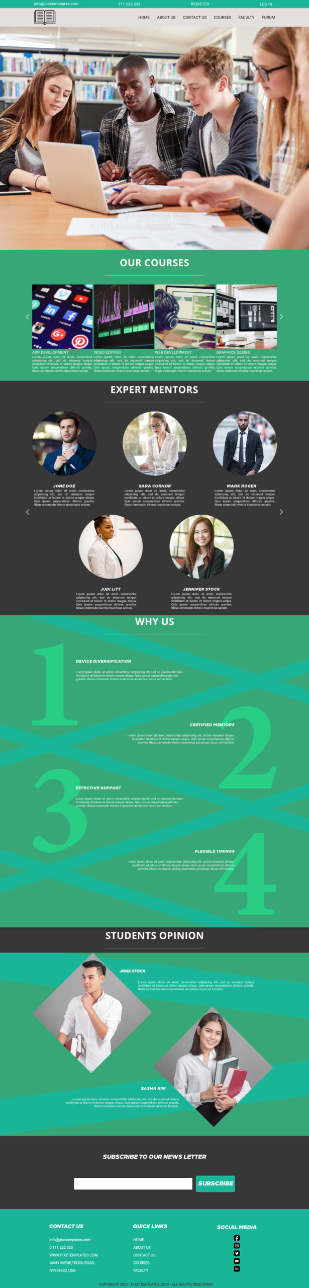 Website Template For Education Free to Download