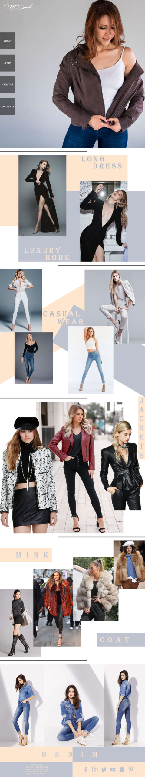 Fashion Website Template in Photoshop PSD Format