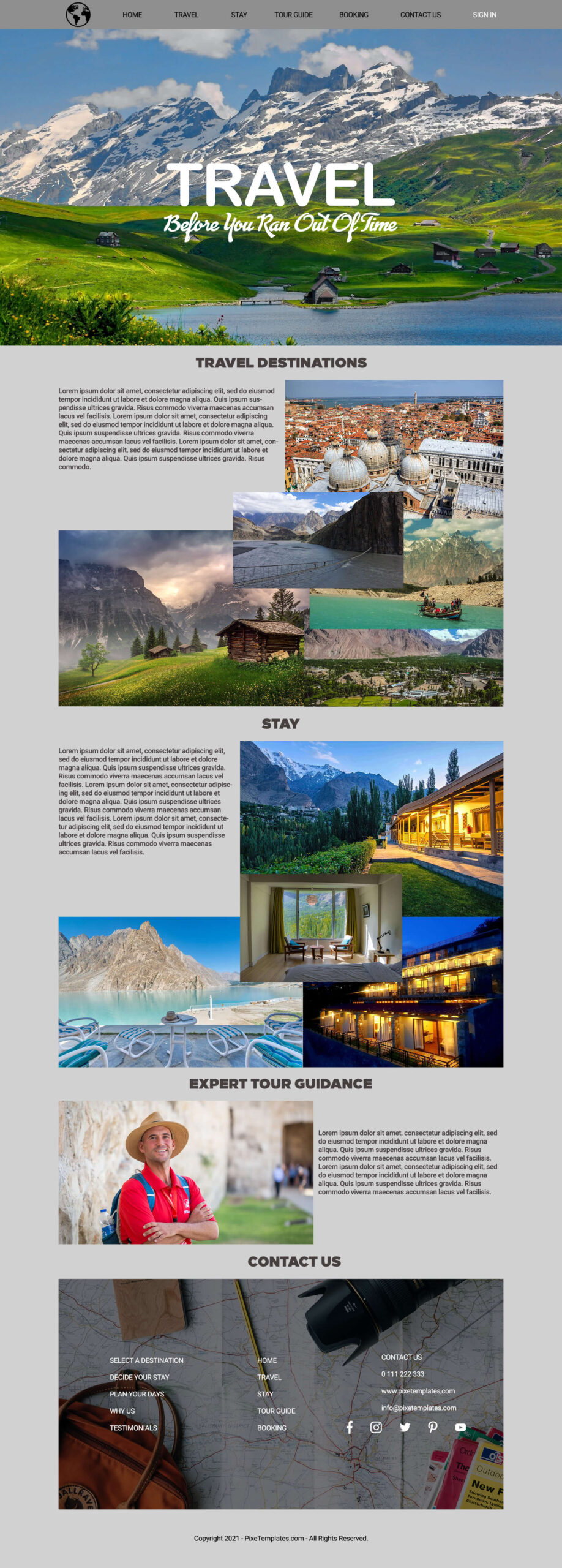 Download Website Template for Travel Agency